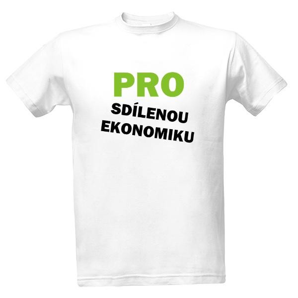 de4063e9ac43 Tričko s potlačou Tričko Pro sdílenou ekonomiku